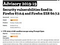 「Firefox 67.0.4」リリース、サンドボックスを回避する脆弱性を修正 - INTERNET Watch