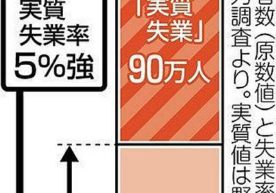 コロナ禍で女性の実質失業率5%強、実際は政府統計の倍 仕事激減・休業手当なし90万人:東京新聞 TOKYO Web