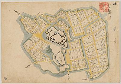 江戸始図:初期江戸城の最古級絵図見つかる 松江市 - 毎日新聞