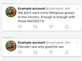 Twitterが「人間以下に扱う言葉」の例を掲載。ウジ虫でも分かりやすい! - Engadget 日本版