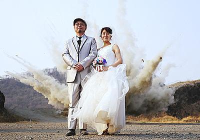 特撮のロケ現場でババーン!と爆破結婚写真を撮ってきた - デイリーポータルZ