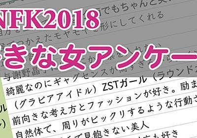 NFK2018〜女が選ぶ好きな女ランキング〜結果発表 - She is [シーイズ]