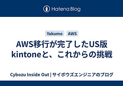 AWS移行が完了したUS版kintoneと、これからの挑戦 - Cybozu Inside Out | サイボウズエンジニアのブログ