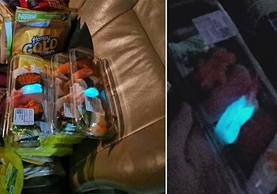スーパーで購入したパック寿司のエビが青い蛍光色に光っていた件(タイ) : カラパイア