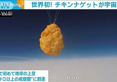 世界初!チキンナゲットが宇宙へ 88万個分の上空に