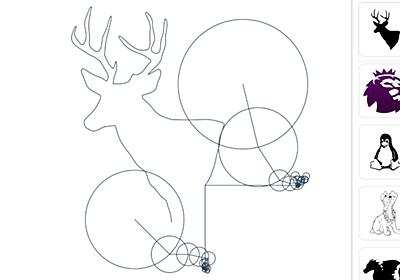 無料でフーリエ変換を使った自動お絵描きが見られる「myFourierEpicycles」を使ってみた - GIGAZINE