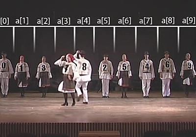 「クイックソート」「バブルソート」などのソート・アルゴリズムをフォークダンスで説明する恐るべきムービー集「AlgoRythmics」 - GIGAZINE