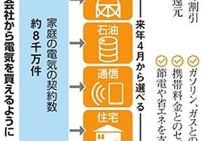 家庭向け電力自由化、初日24社名乗り 秋にも料金計画:朝日新聞デジタル