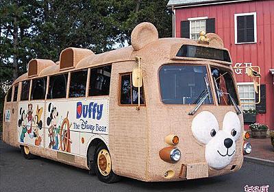ダッフィーまみれで中もふわっふわ 東京ディズニーシーで「ダッフィーバス」を展示&体験乗車できる! - ねとらぼ