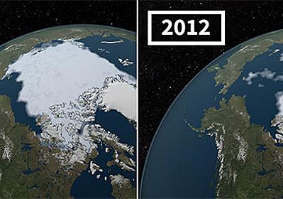 気候変動が地球に与えた影響が一目瞭然でわかるNASAのビフォア・アフター画像 : カラパイア