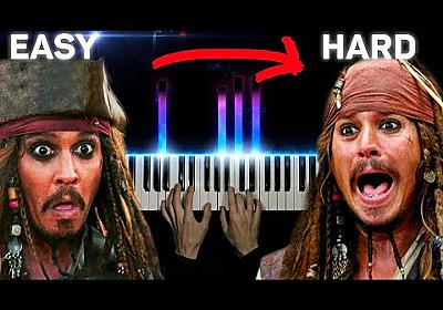 Pirates of the Caribbean From Easy to Hard