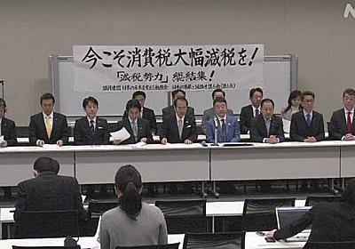 自民若手議員ら 消費税減税求め緊急声明 | NHKニュース