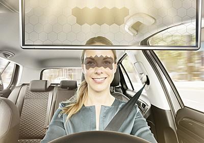 顔認識で目元だけに影を作るクルマ用液晶サンバイザー ボッシュが開発 - ITmedia NEWS