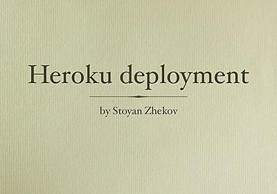 Deployment on Heroku