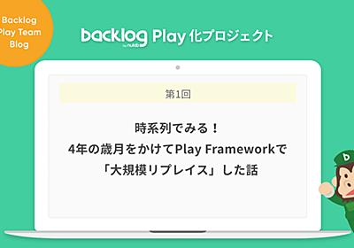 時系列でみる!4年の歳月をかけてPlay Frameworkで「大規模リプレイス」した話【Backlog Play 化プロジェクト】