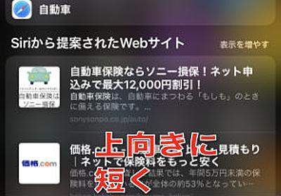 iPhoneで最も手っ取り早くネット検索する方法 - 非天マザー by B-CHAN