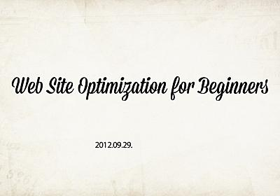 Web Site Optimization for Beginners