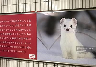 広告の概念をぶち壊す化粧品会社の広告「好きな動物はオコジョです。大好き。」 - Togetter