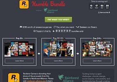 1ドルからの寄付でRockstar Gamesの作品群が入手できる「The Rockstar Games Humble Bundle」がスタート - 4Gamer.net