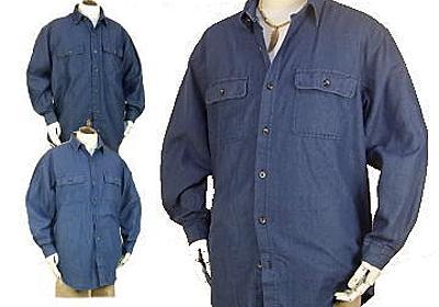 【楽天市場】メンズ デニムシャツ / ワークシャツ 長袖 6.5オンス生地 / 大きいサイズ LL 3L 4L:アジアンアジアン 楽天市場店