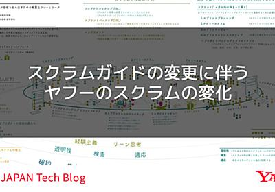スクラムガイドの変更に伴うヤフーのスクラムの変化 - Yahoo! JAPAN Tech Blog