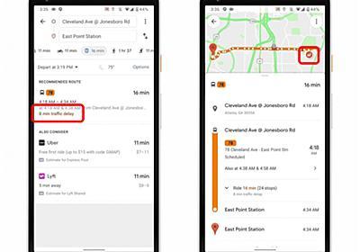 「Googleマップ」のナビにバス遅延と車両の混み具合情報表示 東京を含む一部地域で - ITmedia Mobile