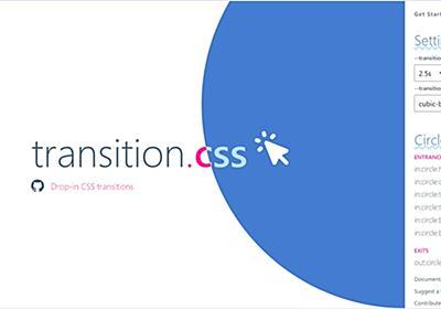 独自属性で任意のHTML要素に様々なアニメーション遷移エフェクトを付与できるスタイルシート・「transition.css」   かちびと.net