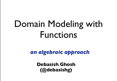 Domain Modeling with Functions - an algebraic approach