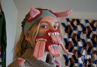 食べちゃうぞ? 対人距離重視の「怖がらせる」マスク登場 写真9枚 国際ニュース:AFPBB News