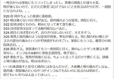 新型コロナウイルス感染症(COVID-19)記録 - ぱんだ日記