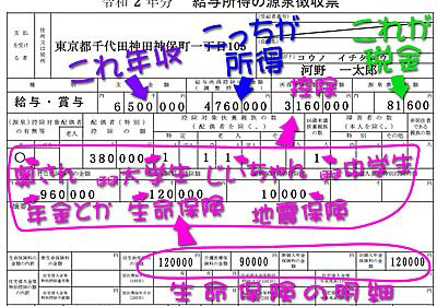 【図解】前年と違うよ! 令和2年分「源泉徴収票」の見方 - INTERNET Watch