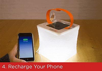 太陽光でスマホを充電できる、折り畳みランタン   PackLite(パックライト)   Kickstarter fan!