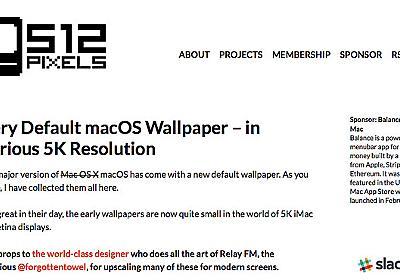 歴代のMac OSXの壁紙がダウンロードできる「512 Pixels」 | Blog.IKUBON.com