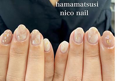 ナチュラルな大理石風ネイル│浜松市 中区 自宅ネイルサロン nico nail ニコネイルのブログ