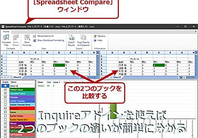 【Excel】そっくりなExcelブックを簡単比較:Spreadsheet Compareアプリの使い方:Tech TIPS - @IT