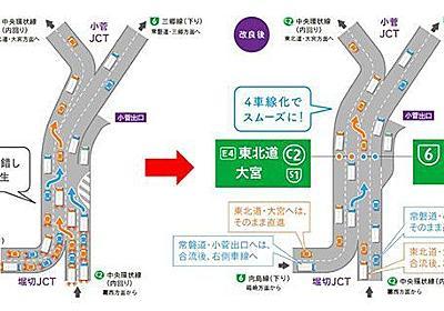 中央環状線が渋滞緩和へ 首都高の堀切・小菅JCT間と板橋・熊野町JCT間が4車線に   乗りものニュース