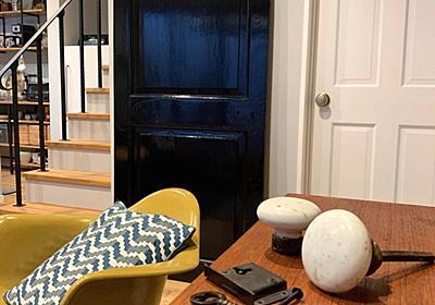 <庭プロジェクト>小屋工房製作11ヴィンテージなドアノブをつけよう - My Midcentury Scandinavian home 〜北欧ミッドセンチュリーの家〜
