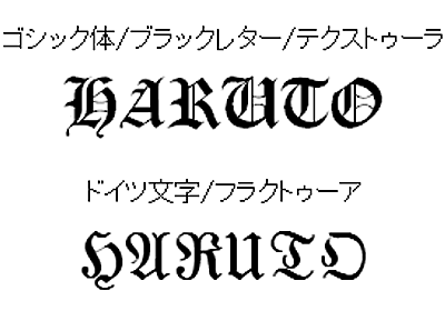 参考記事: ドイツ文字(フラクトゥーア)とドイツ語の筆記体: ta meta ta phonetika