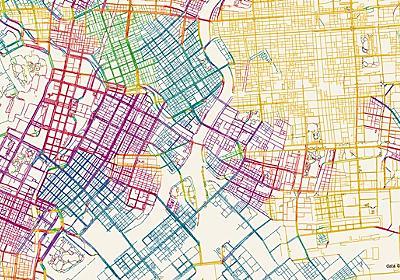 道路を方角ごとに塗り分けると、その街のでき方がわかる :: デイリーポータルZ
