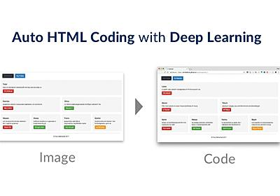 web制作の自動化が進む! 画像から自動コーディングする深層学習プログラムが公開 | Ledge.ai