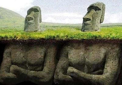 モアイ像は頭だけではない、地下に埋められたボディの秘密 : カラパイア