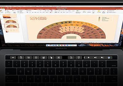Office for MacにTouch Barのサポートが追加 〜Word、Excel、PowerPoint、Outlookなど幅広く実装 - PC Watch