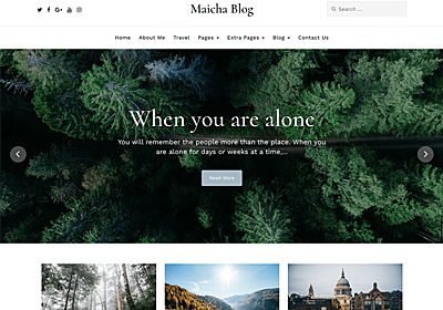 Maicha Blog – WordPress Theme Review