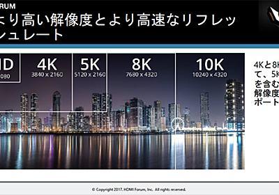 ケーブル1本で8Kや10Kも 「HDMI 2.1」正式リリース - ITmedia NEWS
