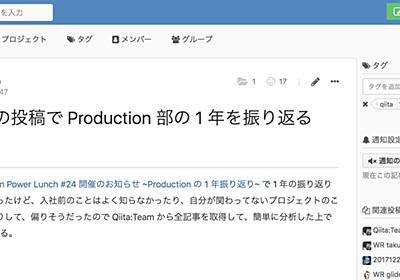 Google Colaboratory で Qiita:Team の全投稿を取得して、可視化したり、人気ランキングを作ってみる - Kaizen Platform 開発者ブログ