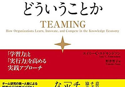 「チームが機能するとはどういうことか」を読んでておもしろかったところ - hitode909の日記