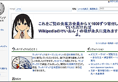 Wikipediaのジミー・ウェールズ画像を「けいおん!」のあずにゃん画像に変更 - GIGAZINE