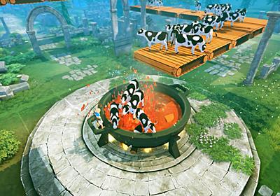 オープンワールド『クラフトピア』Steamにて9月4日21時早期アクセス開始へ。牛を煮て、ダンジョンを探索し、神を強制労働させるサバイバルアクション | AUTOMATON