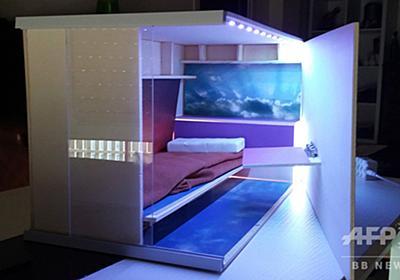 低所得者向け「ハチの巣」住宅が物議、日本のカプセルホテル参考 スペイン 写真4枚 国際ニュース:AFPBB News