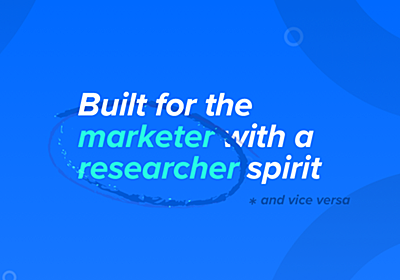 Segmanta | What if market research was built by marketers?